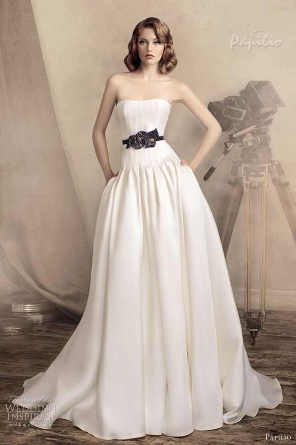 papilio wedding dresses 2013 monika drop waist ball gown
