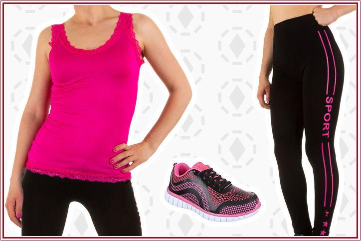 komplette sport outfits f r damen g nstig bestellen dein sporty style 2016 sport outfits. Black Bedroom Furniture Sets. Home Design Ideas