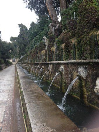 Le fontane di Villa d'Este a Tivoli