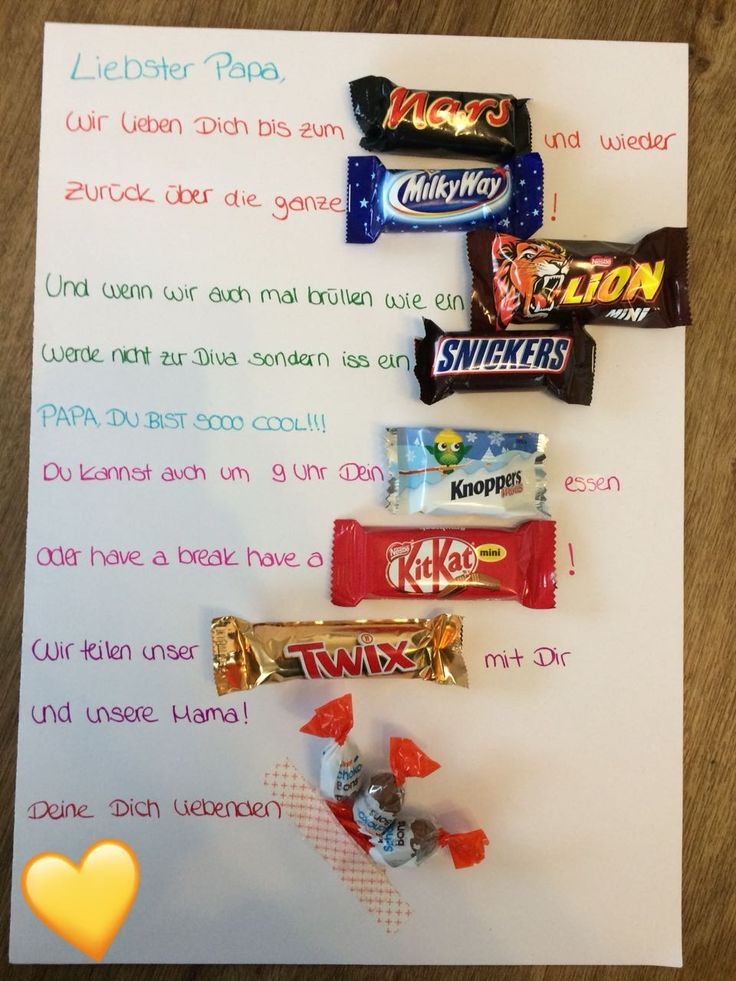 Gift idea for dads who love sweets :-) Mars, Snickers and Milky Way Spr …