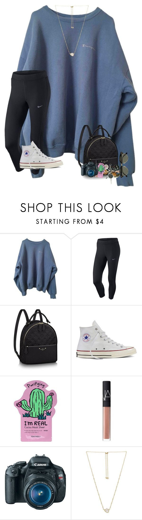 """~life update~rtd~"" by taylortinsley ❤ liked on Polyvore featuring NIKE, Converse, ULTA, NARS Cosmetics, Canon, Kendra Scott and Ray-Ban"