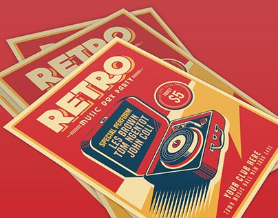 """Check out new work on my @Behance portfolio: """"Retro Music Box Party"""" http://be.net/gallery/38797269/Retro-Music-Box-Party"""