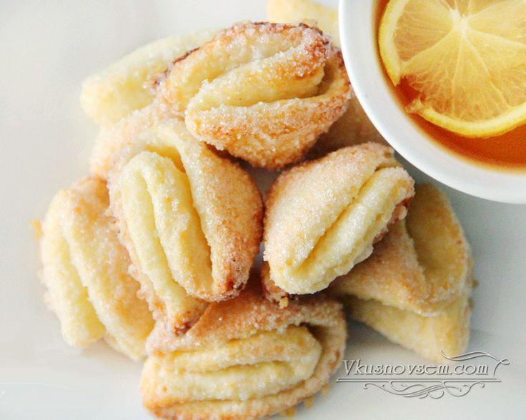"""Печенье творожное """"Поцелуйчики"""" - Печенье, пирожные - Рецепты - Вкусные рецепты на каждый день"""