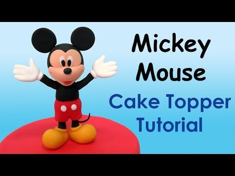 How to make Mickey Mouse (Cake Topper) / Cómo hacer a Mickey Mouse para decorar tortas - YouTube