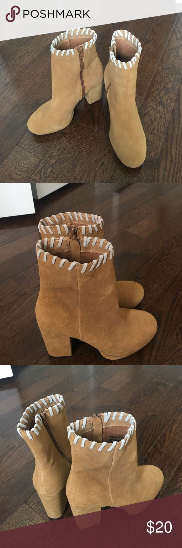 Urban outfitters tan suede heeled boots Brand new, never worn, Urban outfitters size 8 tan suede boots with a 2 inch heel. Urban Outfitters Shoes Heeled Boots