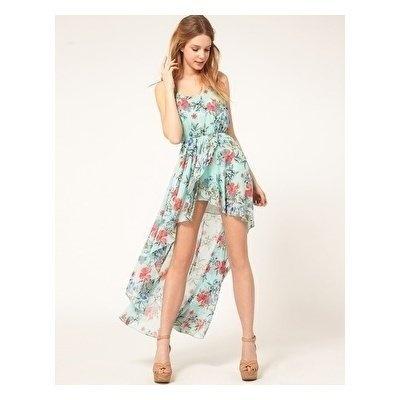 soft floral ♥: Summer Dresses, Floral Prints, High Low Dresses, Asymmetrical Dresses, Dresses Blue, Dresses Casual, Dresses Outfits, Chiffon Dresses, Floral Dresses