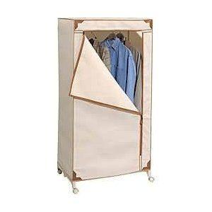 Free Standing Clothes Closet On Wheels Portable Wardrobe