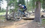 Mountain bike on professional tracks - Hard - Challenge on the mountain bike.