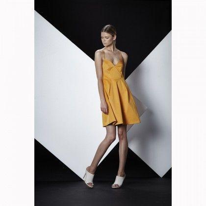SHILLA Grand Back Detail Dress Orange
