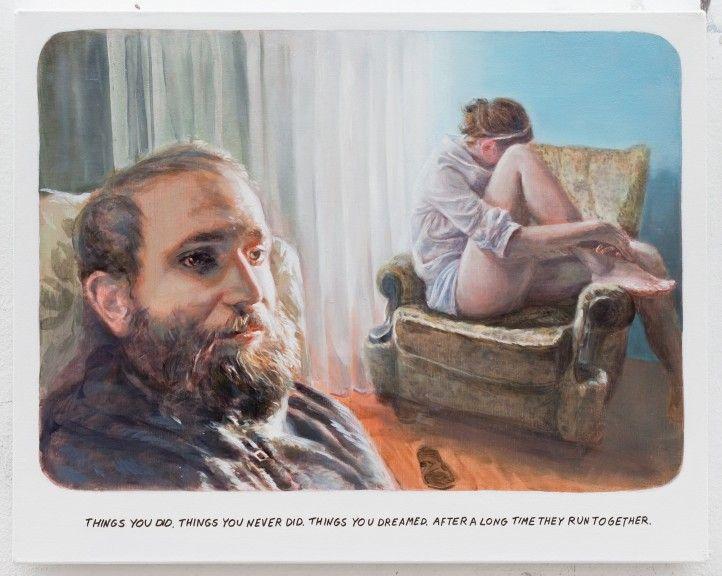 Muntean Rosenblum, Untitled (Things you did...), 2013, oil on canvas, 48 x 60 cm