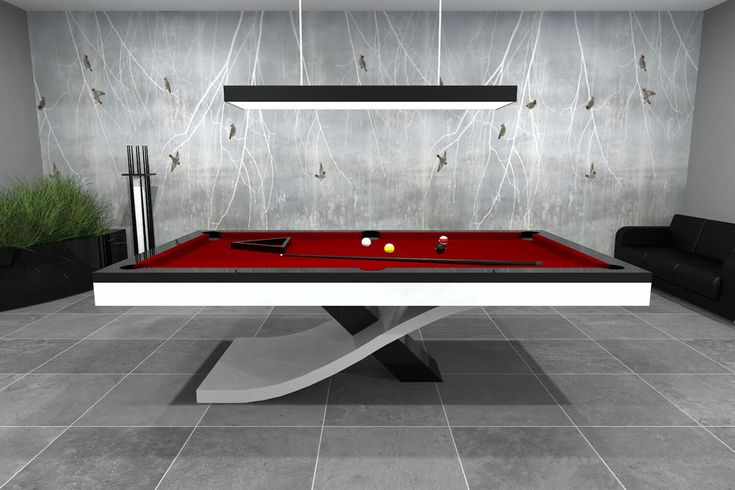 The Flow Slate Bed Pool Table in 2020 Modern pool table