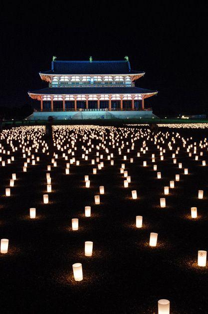 いにしえの明り灯る夜: 奈良deため息