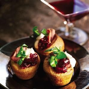 Mini Yorkshire puds with smoked venison and watercress recipe