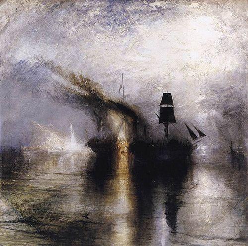 Turner, J.M.W. (1775-1851) - 1842 Peace - Burial at Sea (Tate Gallery, London)