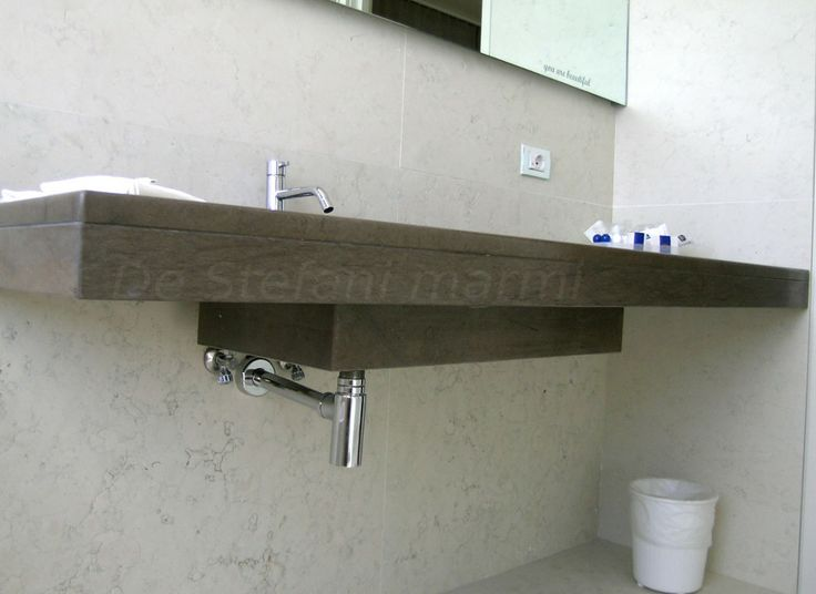 #Bathroom top realized in marble Grigio D'oriente, with pan solid.  Finishes brushed and wixed. #marble #granite