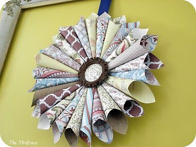 scrapbook paper wreath: Paper Wreaths, Challenges, 4H Crafts, Scrapbook Paper, Miss Mustard Seeds, Seed S Copy
