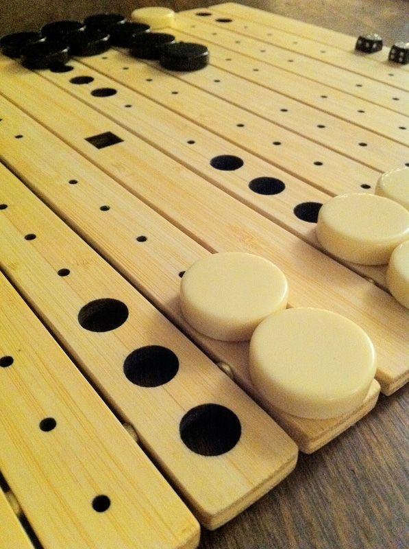 Roll Up Backgammon Board