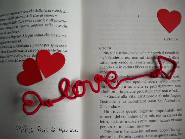 Be my...Handmade Valentine - Segnalibro Love