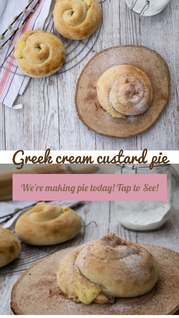 Greek cream custard pie! #greekpie #baking #pie #bake #creampie #custard