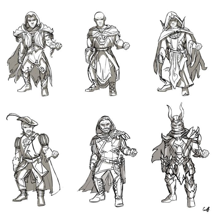 This Image shows the different outfit designs of the character.