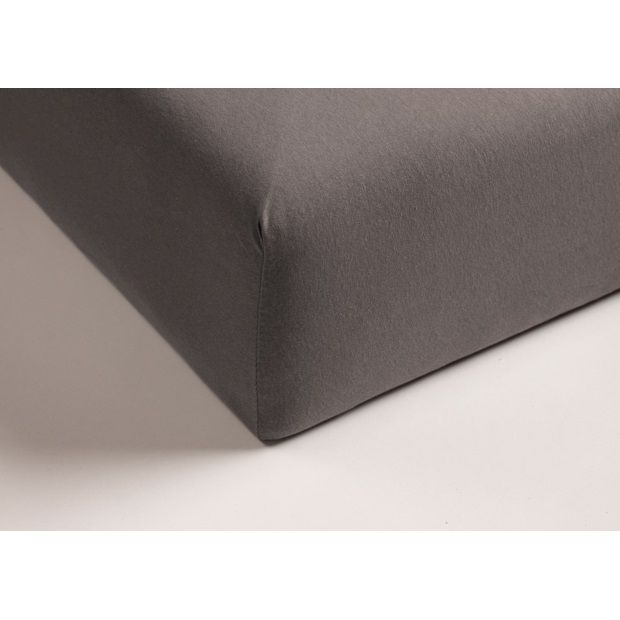 Beddinghouse Hoeslaken Fitted Sheet Taupe - 90 x 210 cm - afbeelding 1