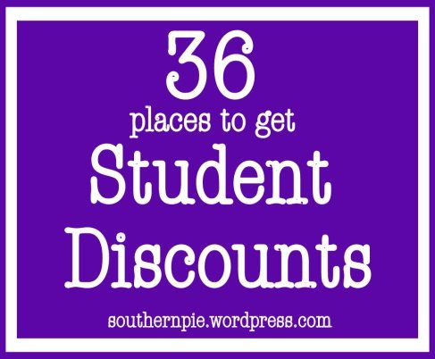 Student Discounts for College Kids. A must know for every poor college student!