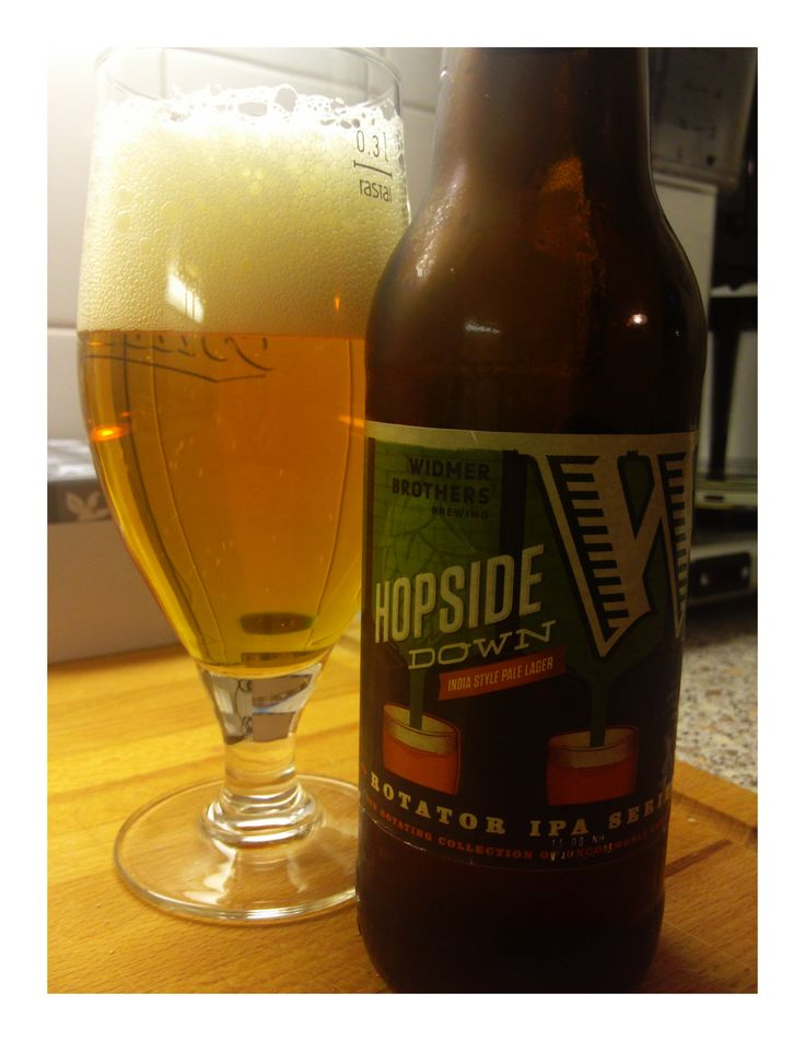 Widmer Hopside Down IPA style Lager 6,7% Golden yellow in color, weak head on a glass. Nose very fruity and fresh. Taste really dry, with long after taste, bitter finish. Surprisingly good lager:)