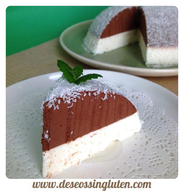 Deseos Sin Gluten: TARTA MOUSSE DE CHOCOLATE Y COCO SIN GLUTEN
