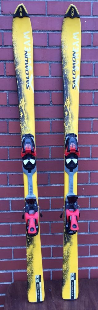 SALOMON X-SCREAM SKIS WITH SALOMON 305 DEMO  BINDINGS 140 CM BOYS GIRLS YOUTH #Salomon
