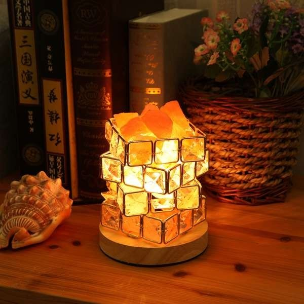 Himalayan Salt Lamp Natural Hymalain Salt Rock In Crystal Basket With Dimmer Switch Ul Listed Cord Wood Base Us Plug Euro Plug Christmas Gift In 2020 Himalayan Salt Lamp Salt Crystal Lamps Salt Rock
