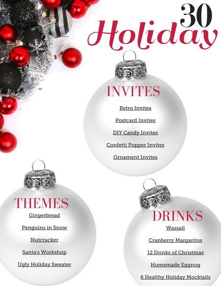 30 Holiday Party Ideas (great for family parties too!)