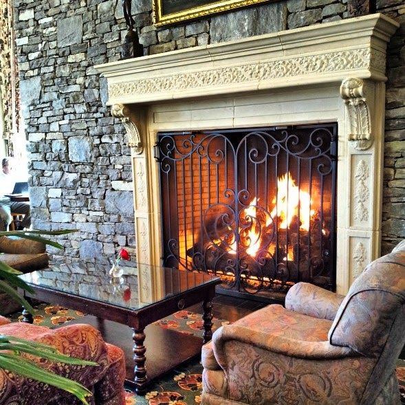 Get Cozy in the NC mountains Fireplace at the Inn on Biltmore in Asheville, NC