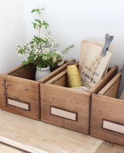 Image of Petit tiroir en bois blond