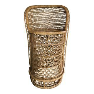 Counter Height Bohemian Rattan Counter Stool 79 In 2019