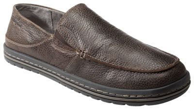 Simple Dare Leather Slip-On Loafers for Men - Dark Brown - 11.5M