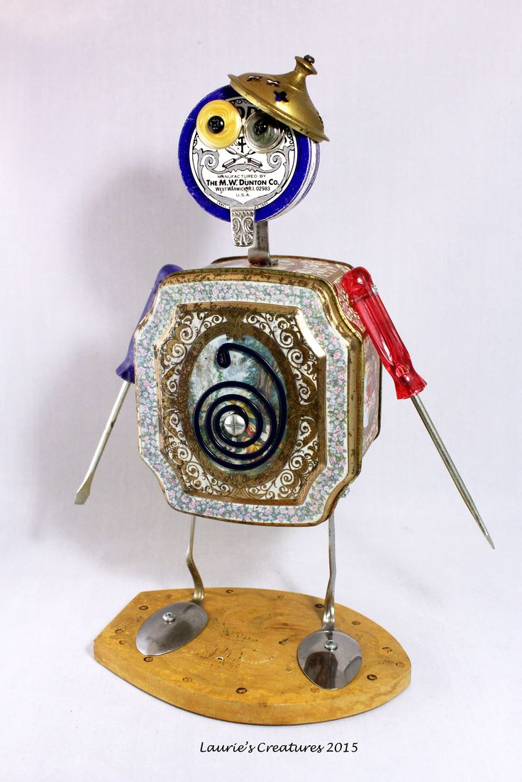 Best Robots Automatons Images On Pinterest Assemblage Art - Salvaged scrap metal transformed to create graceful kinetic steampunk sculptures