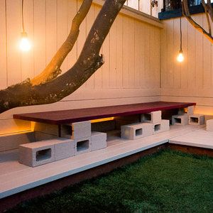 Construct a cinderblock bench