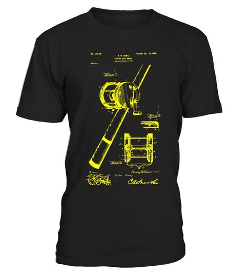 Fishing Reel 1899 Patent T Shirt, - Limited Edition