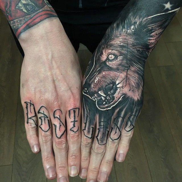 anrijs straume wolf tattoos pinterest tattoo tattoo finger and tattoo hand. Black Bedroom Furniture Sets. Home Design Ideas