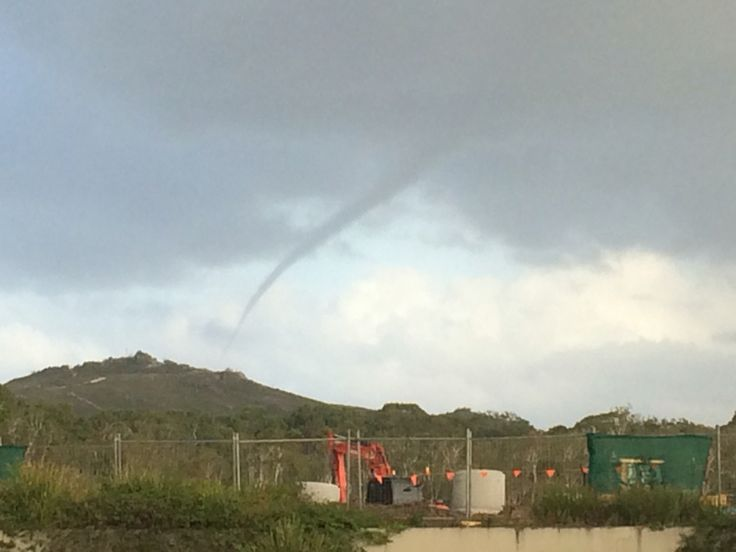 Waterspout over Coolum. Extreme weather, extremely cool, bucket list item ticked off!