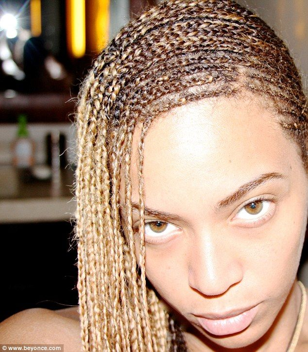 Bare facts: Beyonce got close up and personal with no make-up on her naturally pretty face...
