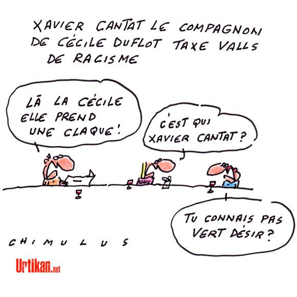 Le compagnon de Cécile Duflot ferme son compte Twitter après avoir critiqué Manuel Valls - Dessin du jour - Urtikan.net