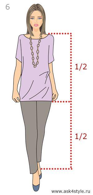 Пропорция в одежде 1:1 с брюками