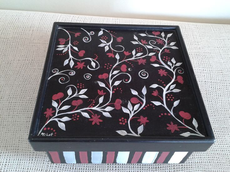 Peach And Black Painted Boxes Pinterest