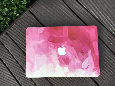 Macbook Case | Oil Painting Collection - Pink Paint - kecshop