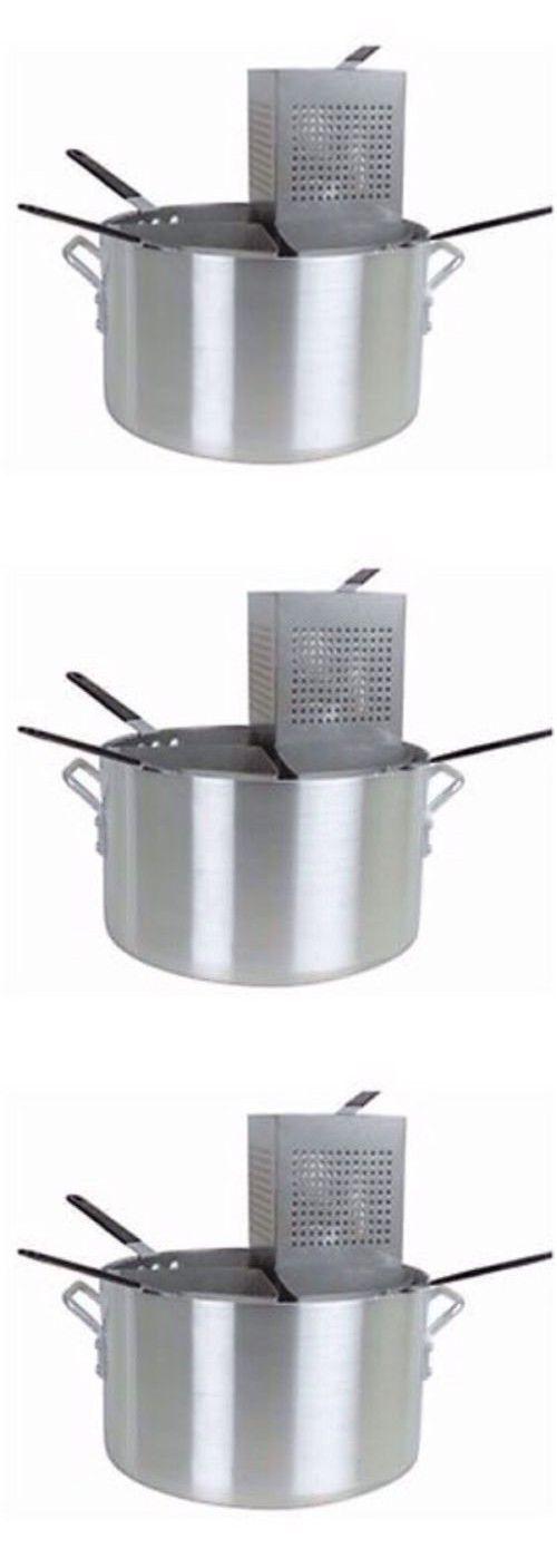 PASTA COOKER 5 Piece Aluminum Pasta Cooker Thunder Group ALSKPC005