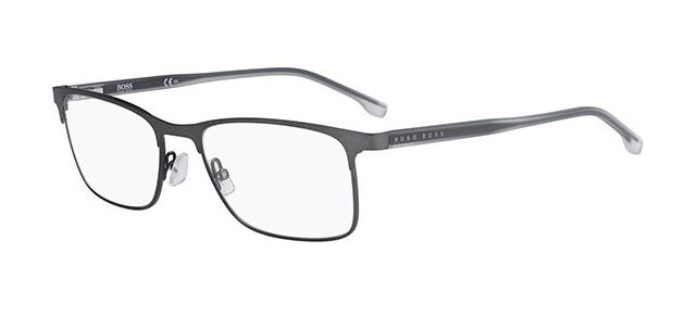 Boss 0967 0fre Matte Gray Rectangular Eyeglasses Eyewear Design Eyeglasses Timeless Fashion