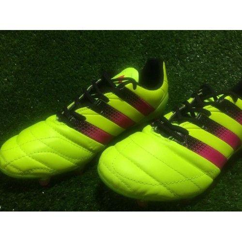 Kjope Adidas ACE 16.3 FG Gul Gronn Herre Fotballsko -Billig Adidas ACE Fotballsko