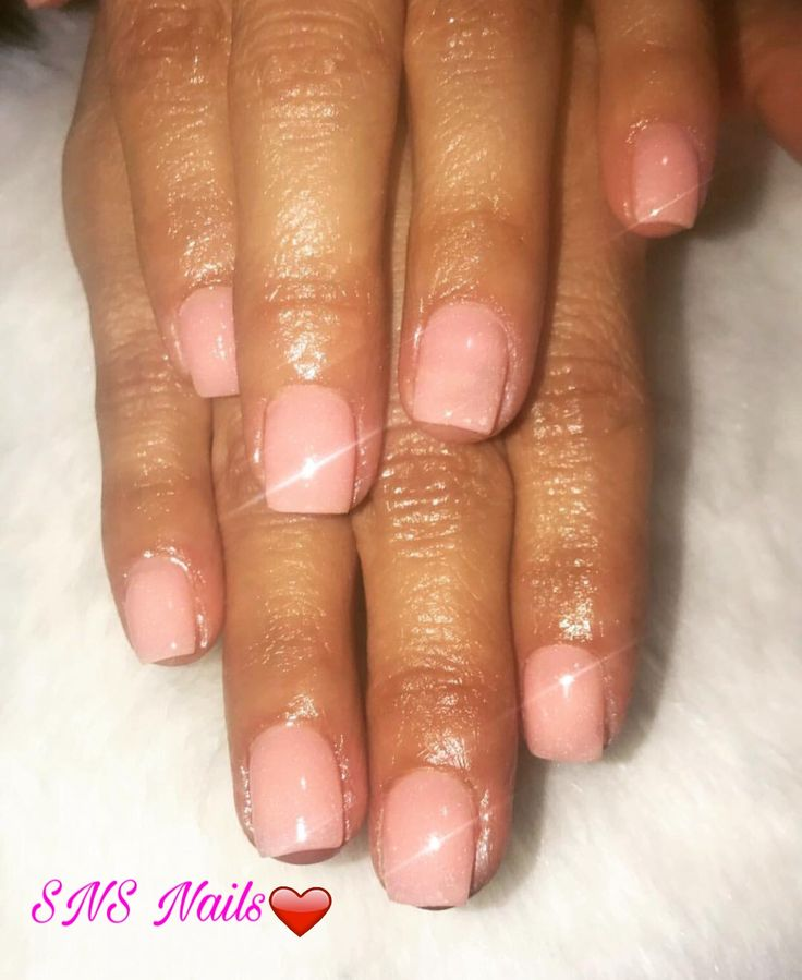 SNS Nails ( Nude Collection N5 ) by Joycelyn @ Angel Nail Spa #2