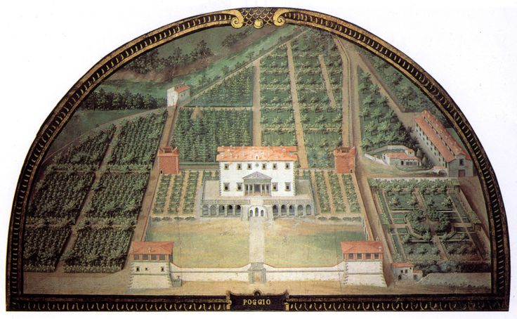 Villa di Poggio a Caiano, Giusto Utens - Giusto Utens. Giusto Utens or Justus Utens was a Flemish painter who is remembered for the series of Medicean villas in lunette form that he painted for the third grand duke of Tuscany, Ferdinando I, in 1599–1602.